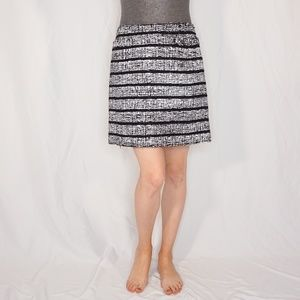 MARC JACOBS Black/White Lace Textured Mini Skirt
